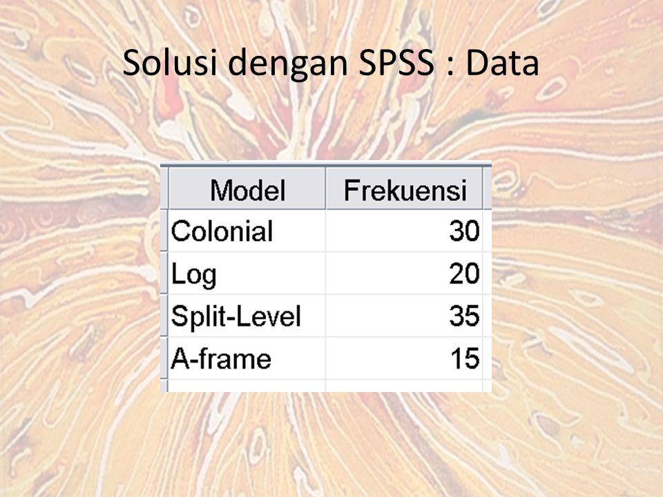 Solusi dengan SPSS : Data