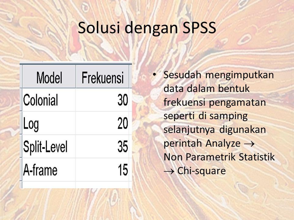 Solusi dengan SPSS