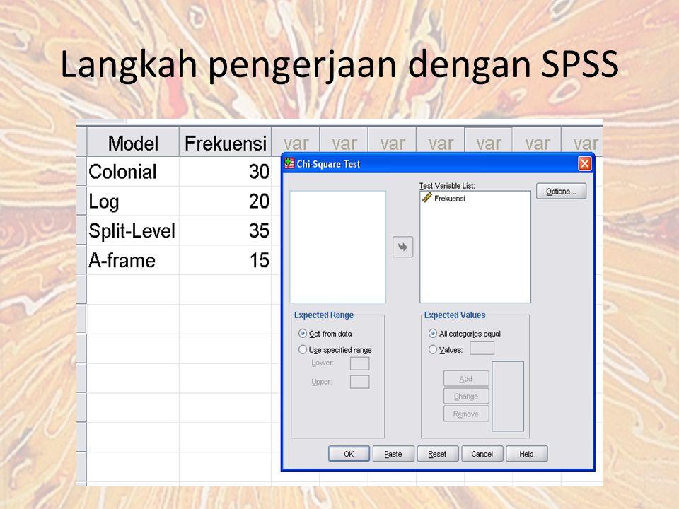 Langkah pengerjaan dengan SPSS