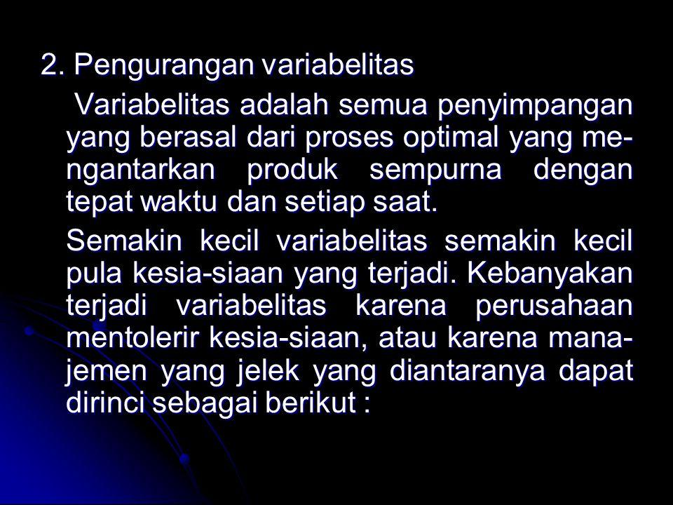 2. Pengurangan variabelitas