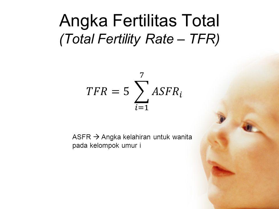 Angka Fertilitas Total (Total Fertility Rate – TFR)