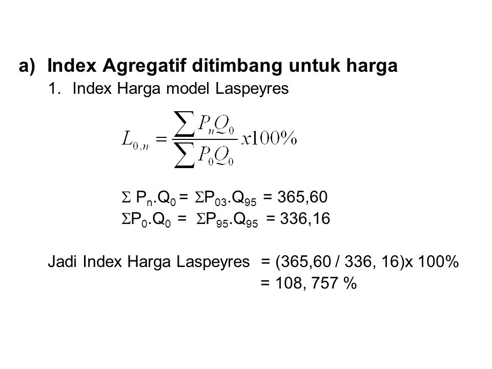 Index Agregatif ditimbang untuk harga
