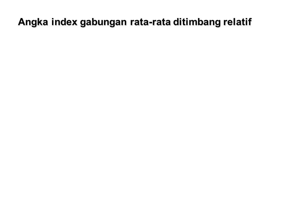 Angka index gabungan rata-rata ditimbang relatif