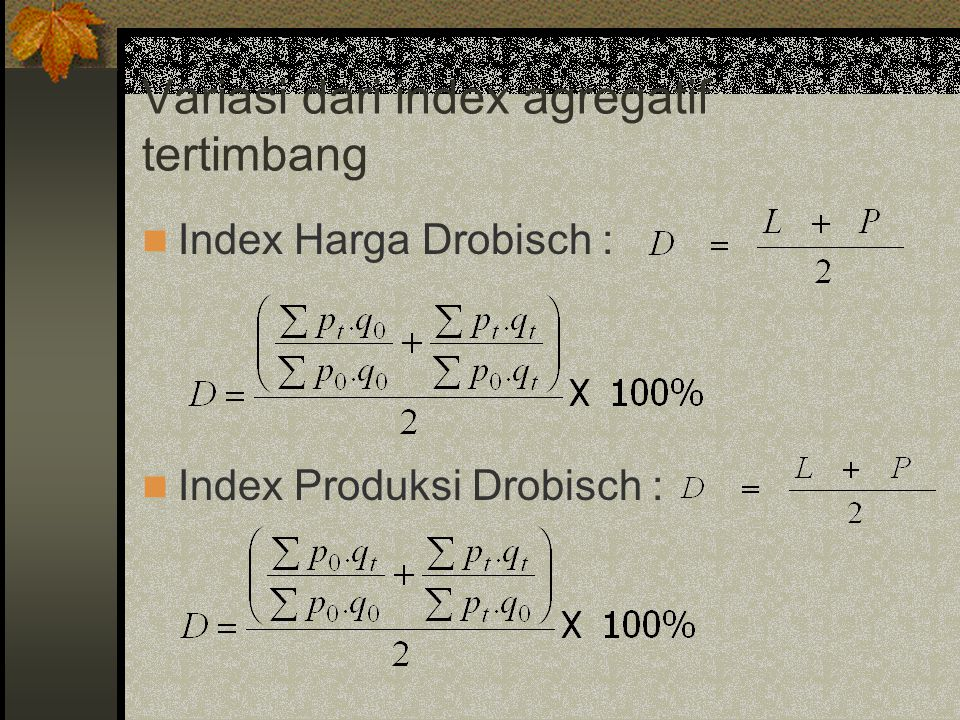 Variasi dari index agregatif tertimbang