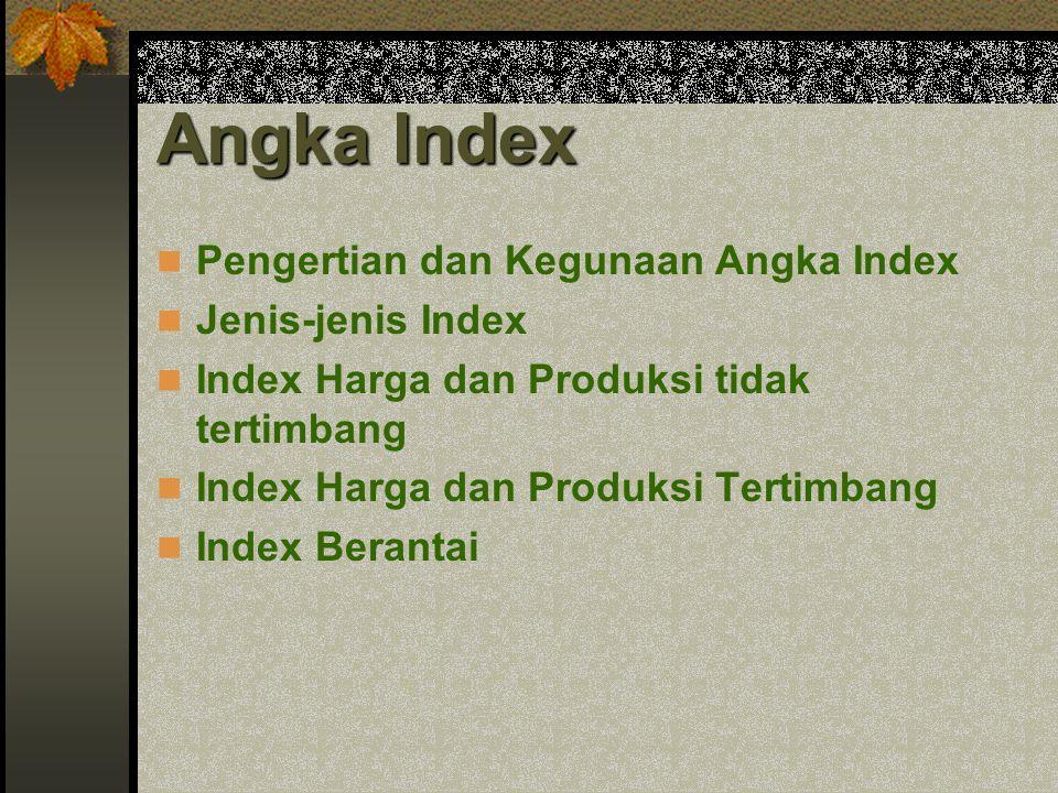 Angka Index Pengertian dan Kegunaan Angka Index Jenis-jenis Index