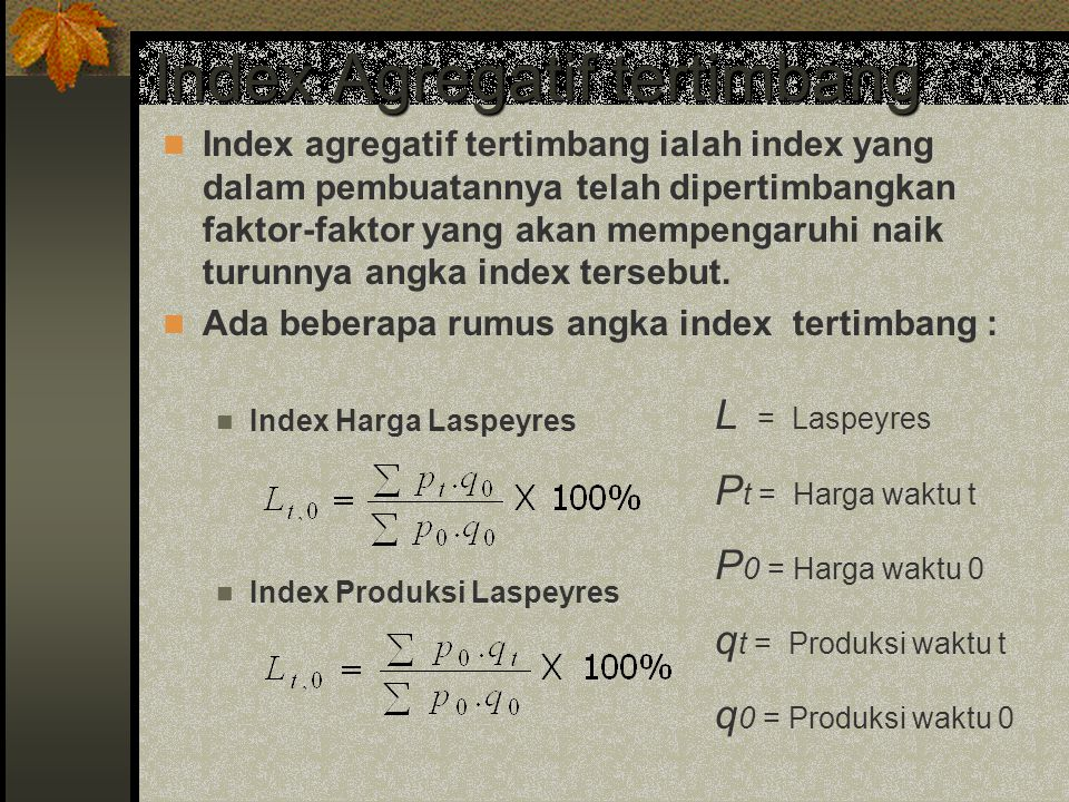 Index Agregatif tertimbang