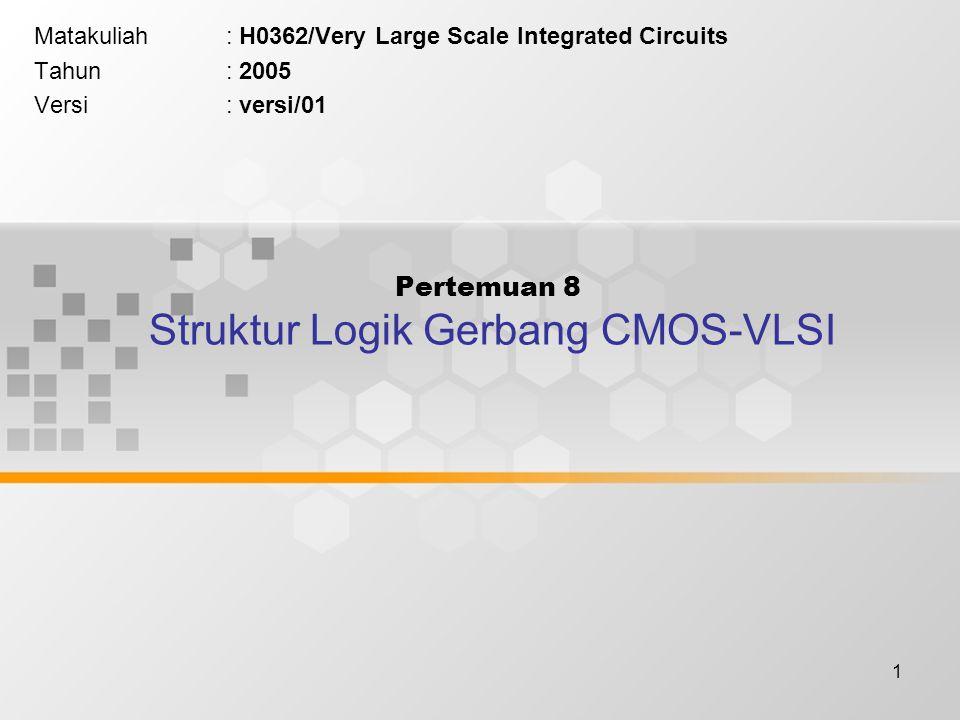 Pertemuan 8 Struktur Logik Gerbang CMOS-VLSI
