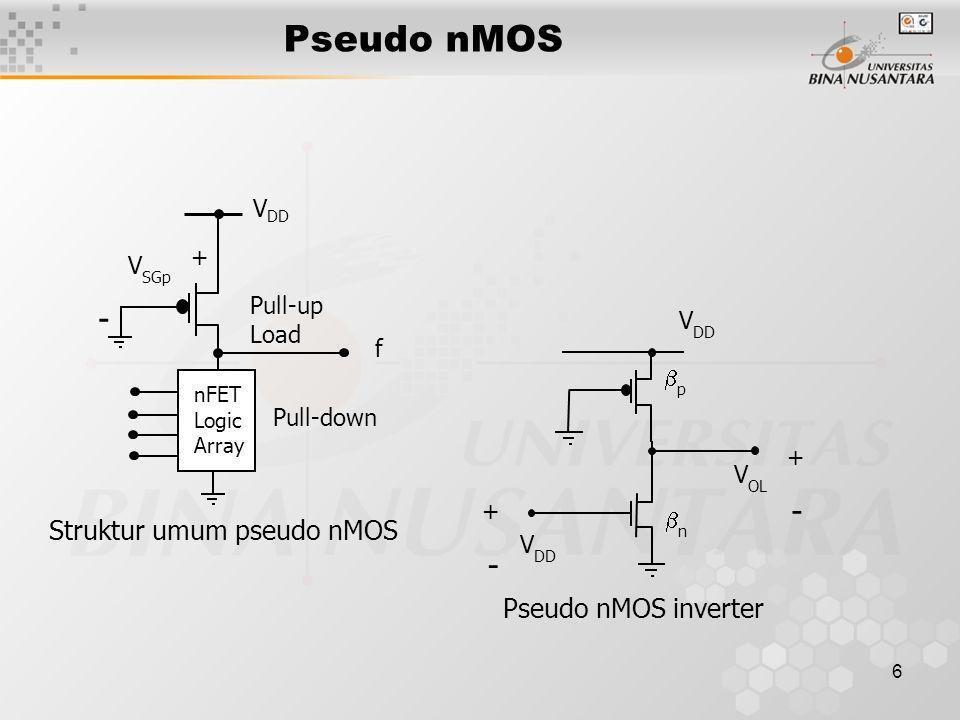 Struktur umum pseudo nMOS