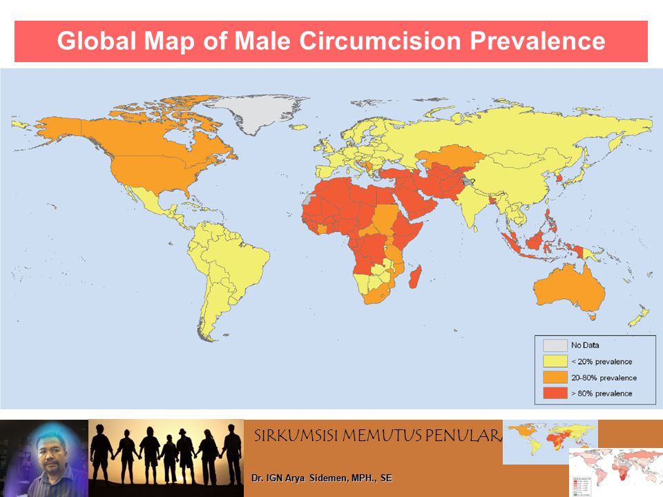 Global Map of Male Circumcision Prevalence