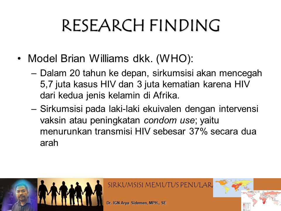 RESEARCH FINDING Model Brian Williams dkk. (WHO):
