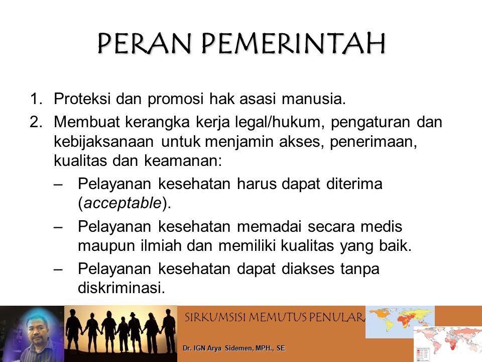 PERAN PEMERINTAH Proteksi dan promosi hak asasi manusia.