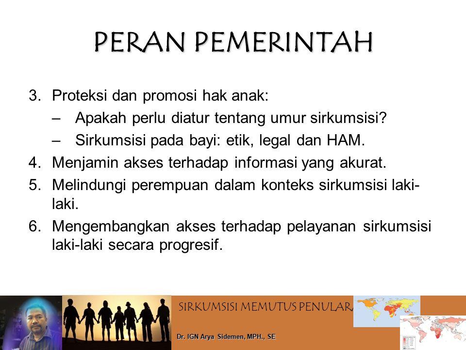 PERAN PEMERINTAH Proteksi dan promosi hak anak: