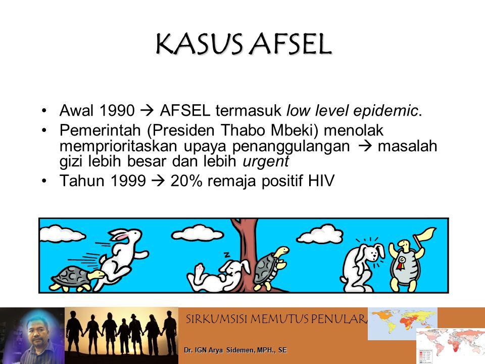 KASUS AFSEL Awal 1990  AFSEL termasuk low level epidemic.