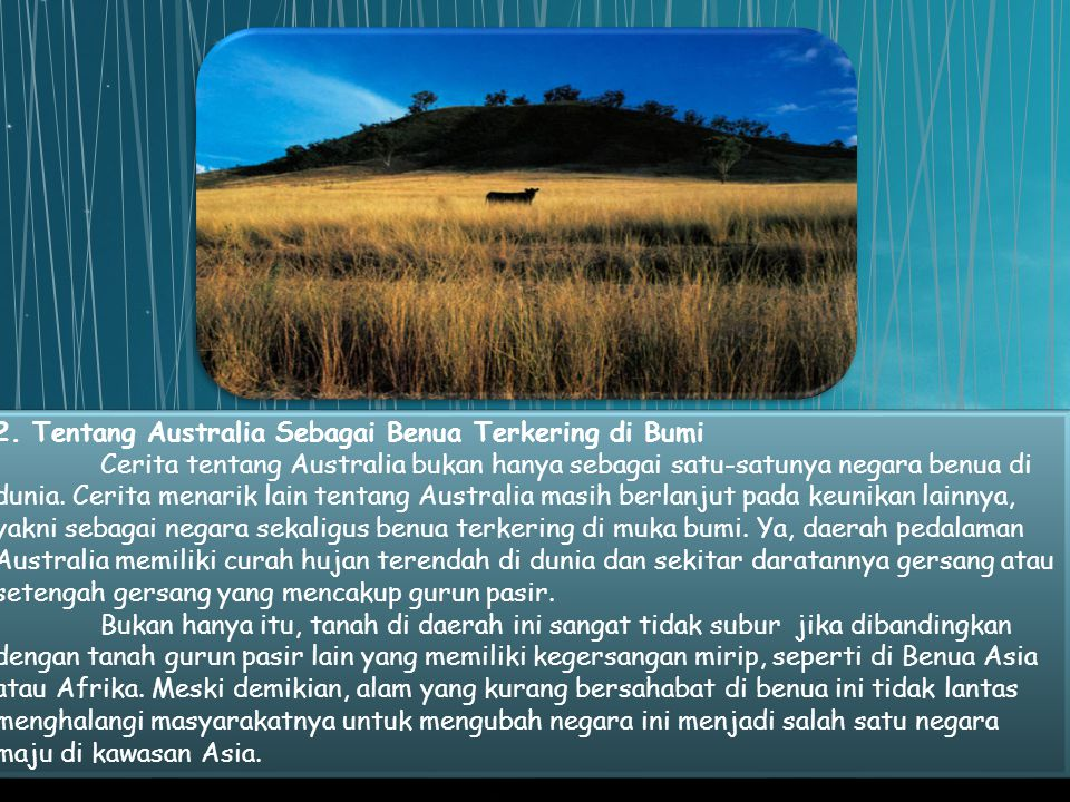 2. Tentang Australia Sebagai Benua Terkering di Bumi