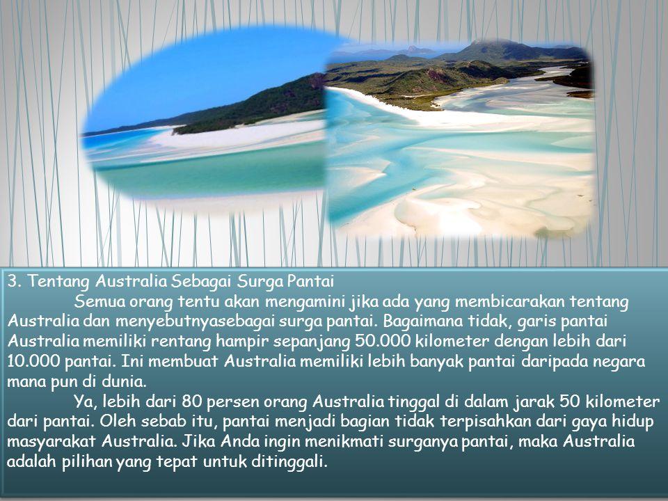 3. Tentang Australia Sebagai Surga Pantai