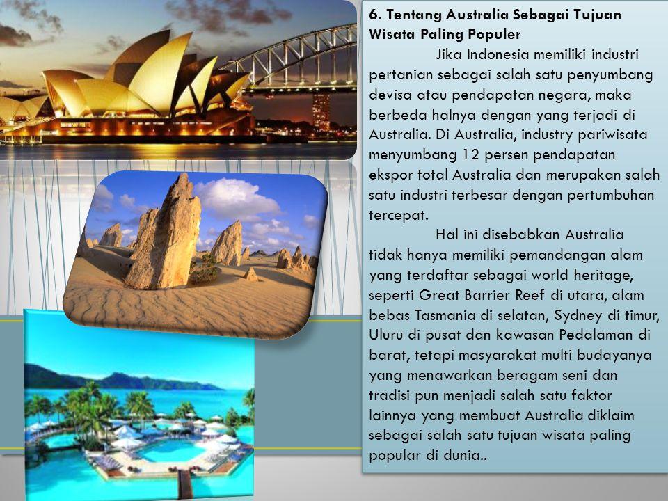 6. Tentang Australia Sebagai Tujuan Wisata Paling Populer