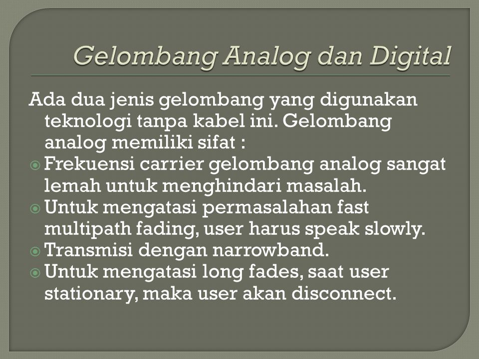 Gelombang Analog dan Digital