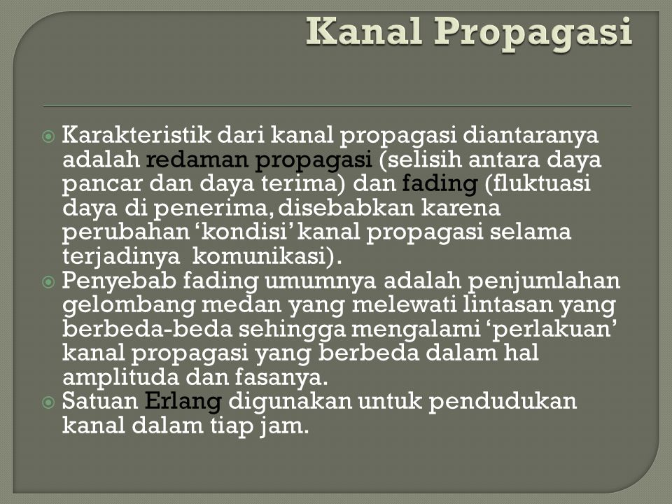 Kanal Propagasi