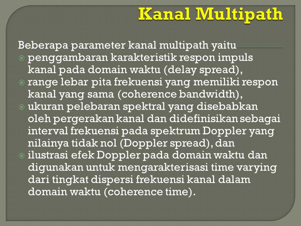 Kanal Multipath Beberapa parameter kanal multipath yaitu