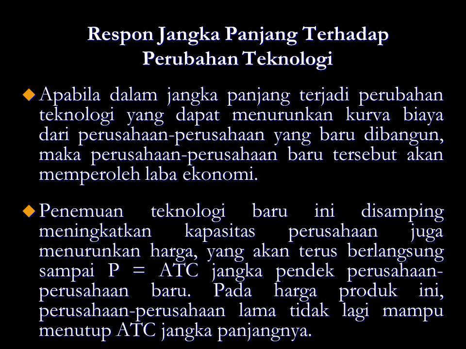 Respon Jangka Panjang Terhadap Perubahan Teknologi