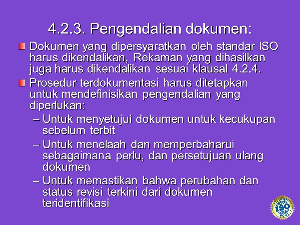 4.2.3. Pengendalian dokumen: