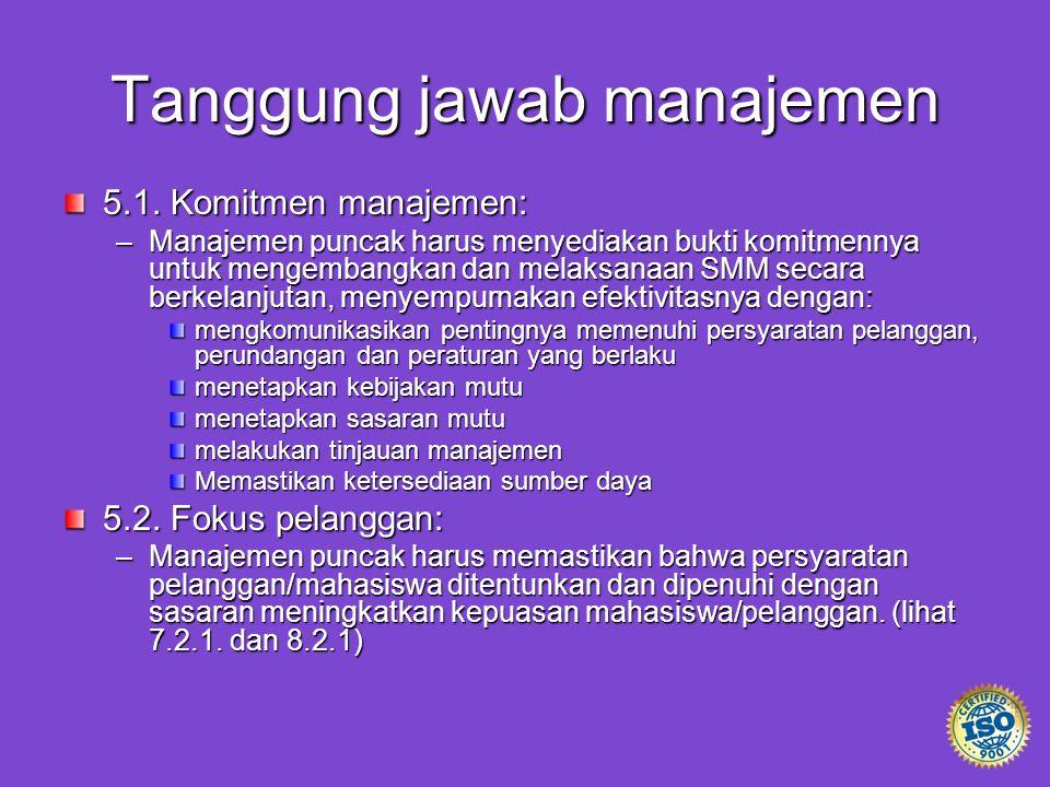 Tanggung jawab manajemen