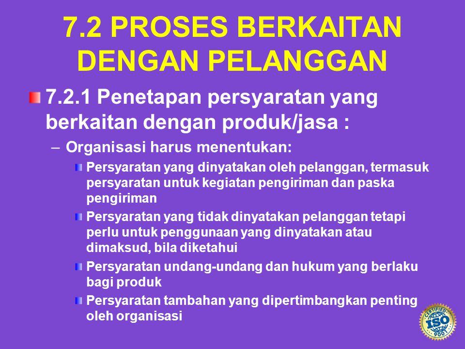 7.2 PROSES BERKAITAN DENGAN PELANGGAN