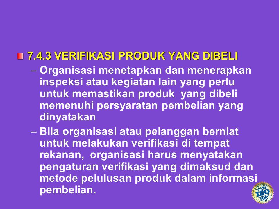 7.4.3 VERIFIKASI PRODUK YANG DIBELI