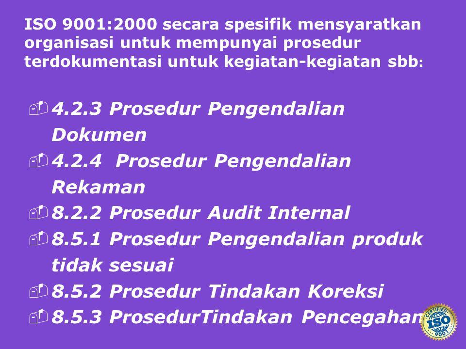 4.2.3 Prosedur Pengendalian Dokumen
