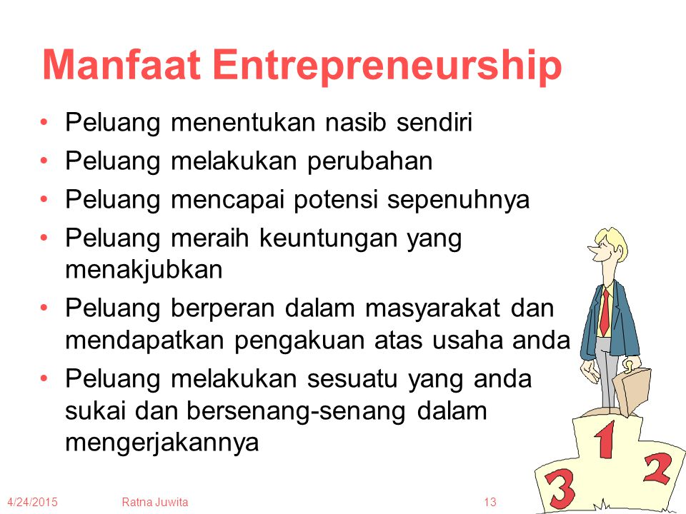 Manfaat Entrepreneurship