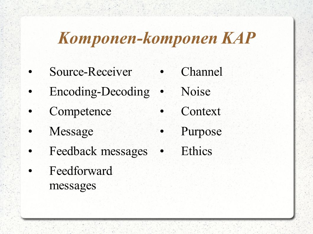 Komponen-komponen KAP
