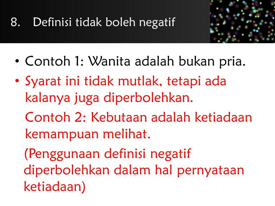 Definisi tidak boleh negatif