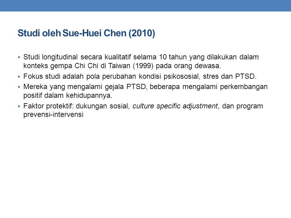 Studi oleh Sue-Huei Chen (2010)