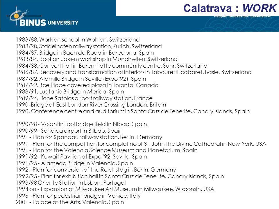 Calatrava : WORK