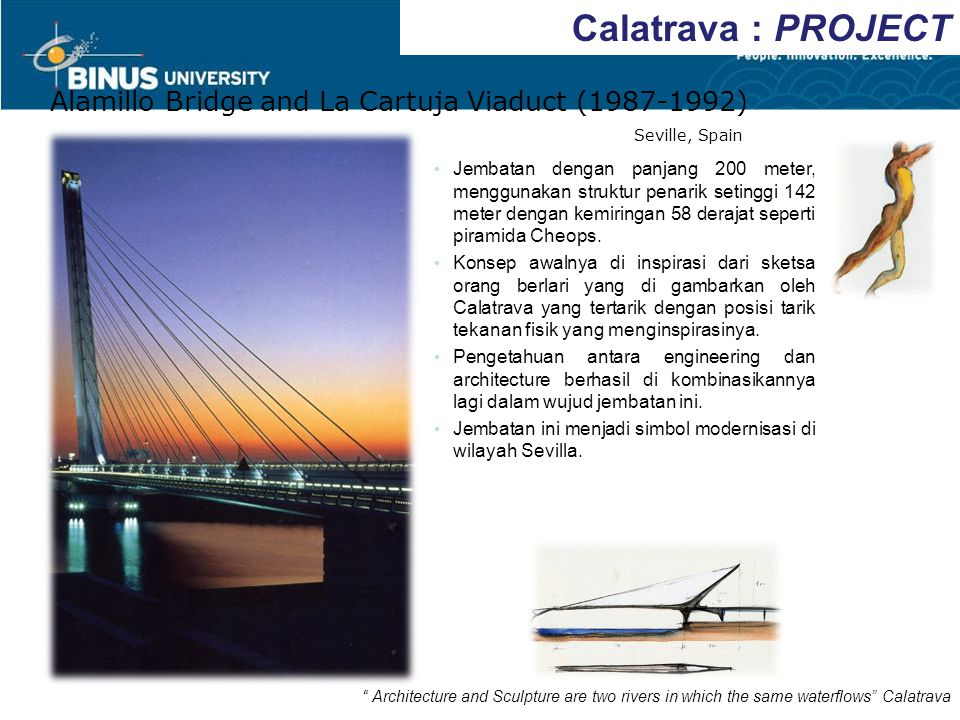 Calatrava : PROJECT Alamillo Bridge and La Cartuja Viaduct (1987-1992)