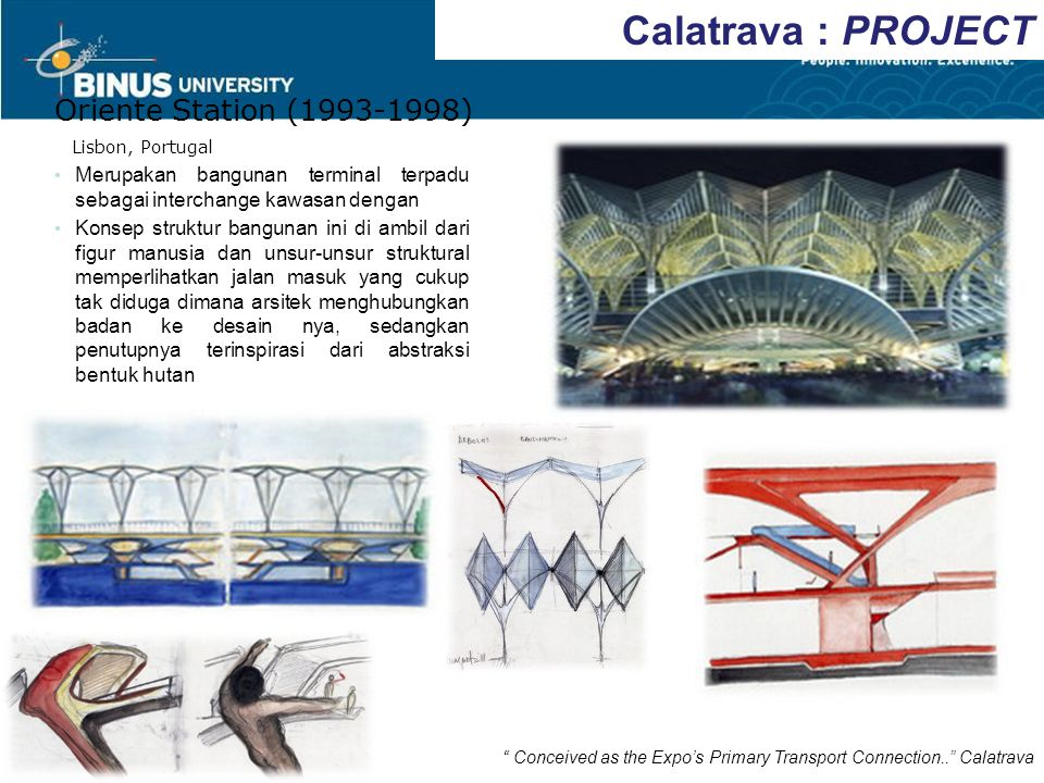 Calatrava : PROJECT Oriente Station (1993-1998)
