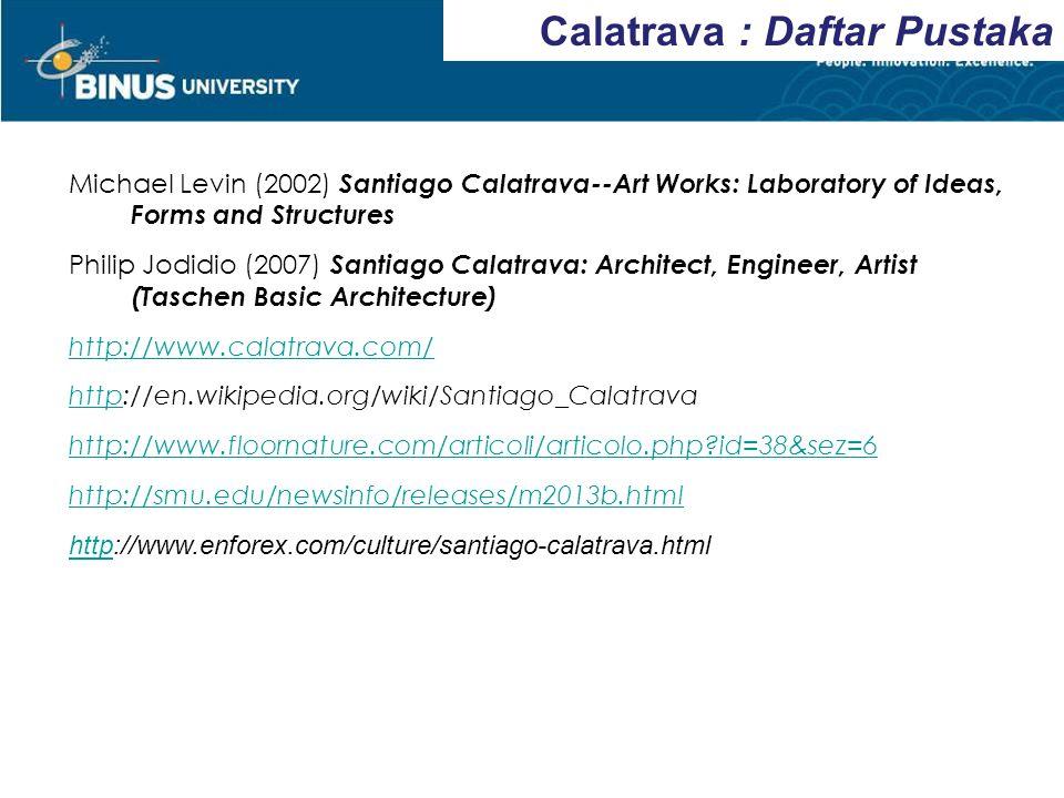 Calatrava : Daftar Pustaka
