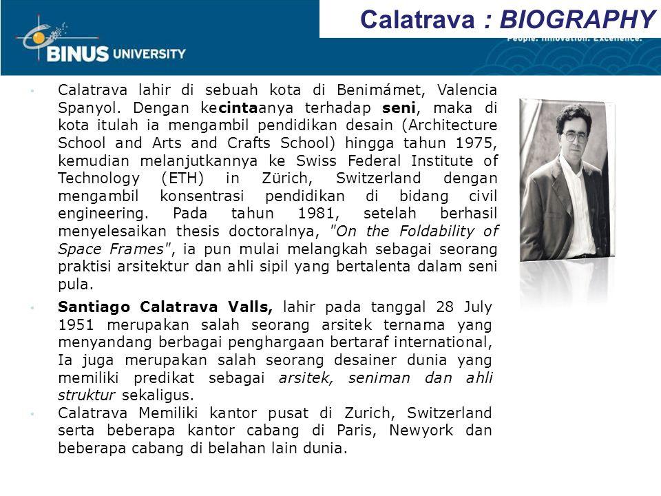 Calatrava : BIOGRAPHY