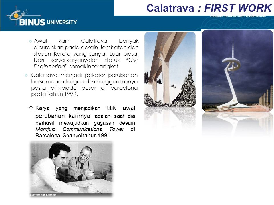 Calatrava : FIRST WORK