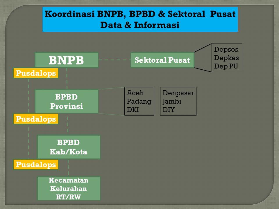 Koordinasi BNPB, BPBD & Sektoral Pusat