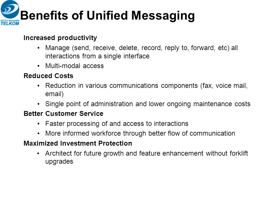 Benefits of Unified Messaging