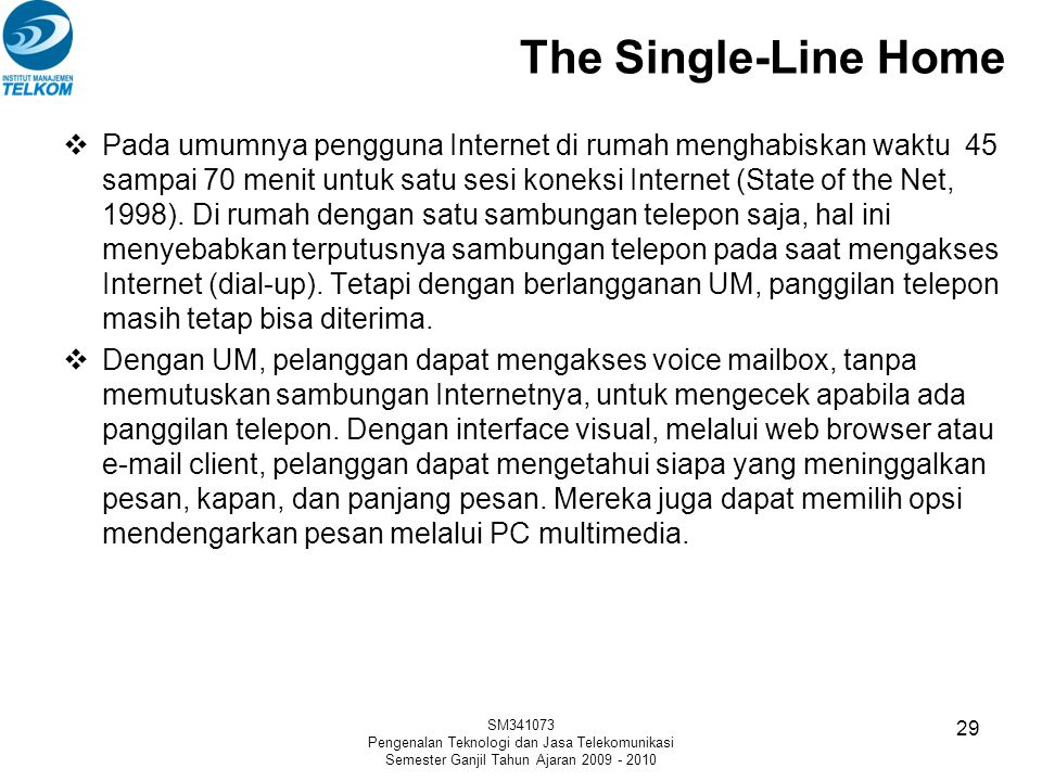 The Single-Line Home