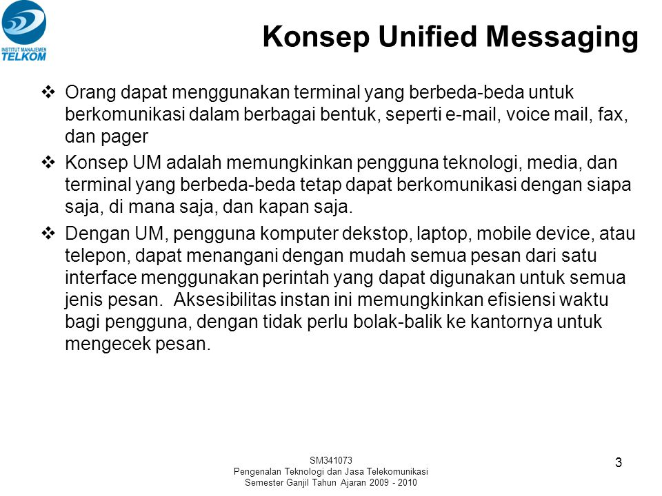 Konsep Unified Messaging