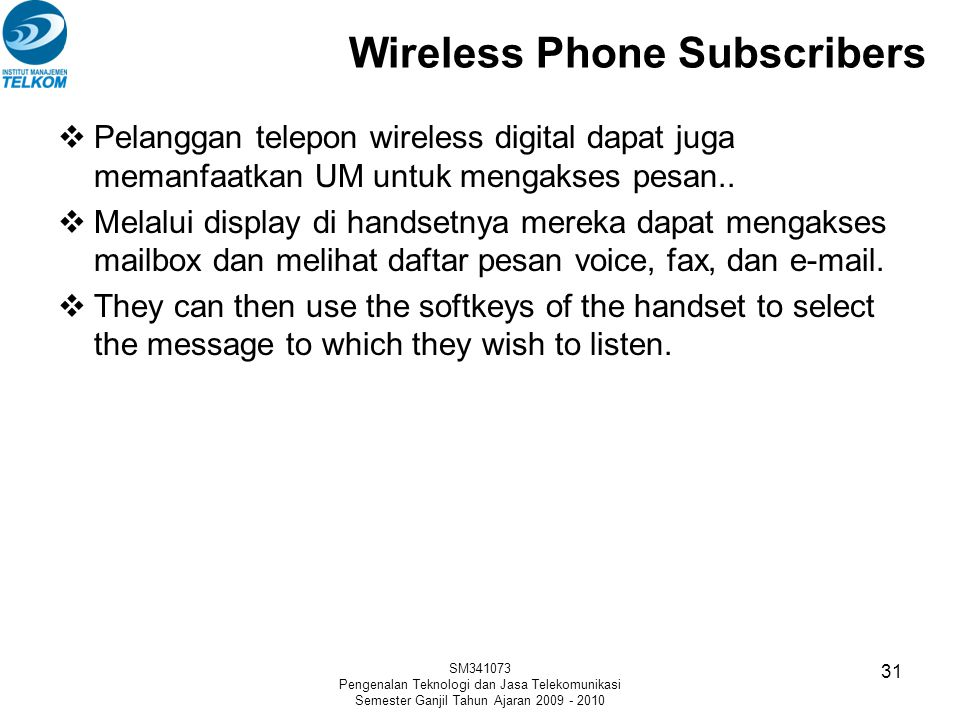 Wireless Phone Subscribers