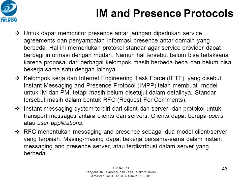 IM and Presence Protocols