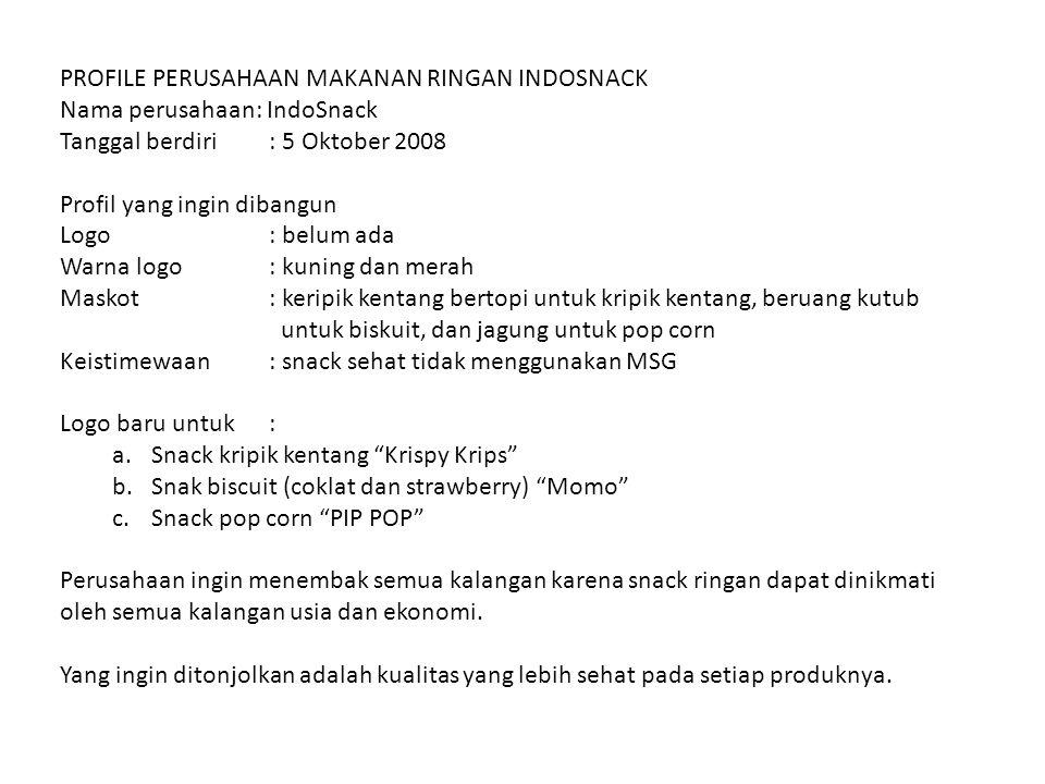 PROFILE PERUSAHAAN MAKANAN RINGAN INDOSNACK
