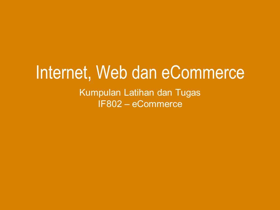 Internet, Web dan eCommerce