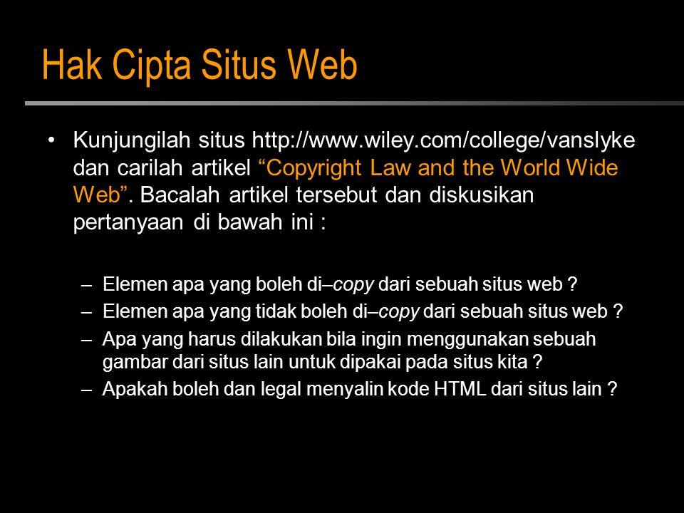 Hak Cipta Situs Web