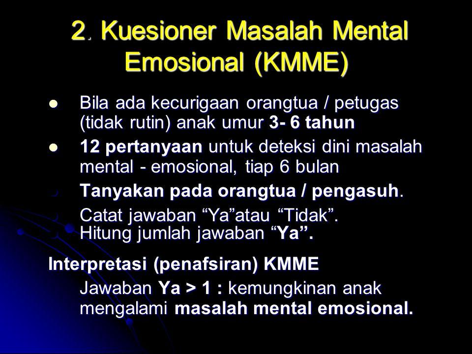 2. Kuesioner Masalah Mental Emosional (KMME)