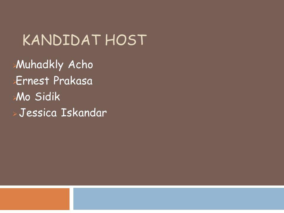 Muhadkly Acho Ernest Prakasa Mo Sidik Jessica Iskandar